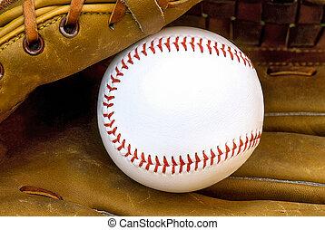 cuir, gant base-ball