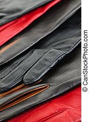 cuir, gants