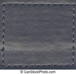 cuir, gris, naturel, texture