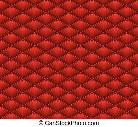 cuir, modèle, bouton, seamless, rouges