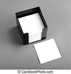 feuille mockup plastique papier a4 vide blanc bloc illustration de stock rechercher. Black Bedroom Furniture Sets. Home Design Ideas