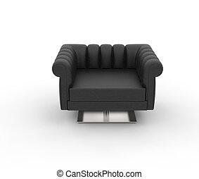 fauteuil cuir noir fauteuil cuir isol arri re plan noir blanc. Black Bedroom Furniture Sets. Home Design Ideas