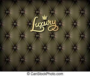 cuir, noir, luxe, buttoned