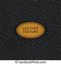 cuir, noir, pattern., seamless