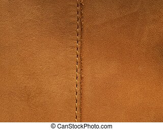 cuir, ourlet, texture