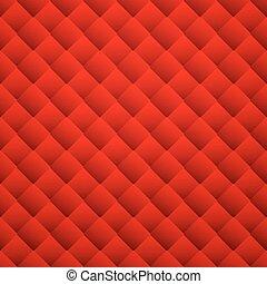 cuir, pattern., seamless, texture, arrière-plan., vecteur, rouges