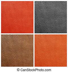 cuir, qualité, ensemble, Arrière-plans