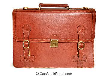 cuir, sac brun
