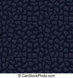 cuir, seamless, vecteur, noir, peau, texture.