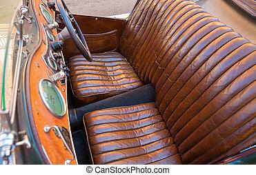 cuir, sièges voiture