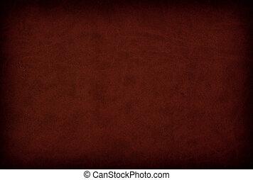 cuir, sombre, cherrywood, fond, texture