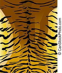 cuir, tigre, imitation, fond