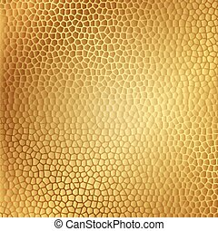 cuir, vecteur, or, texture