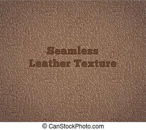 cuir, vecteur, seamless, texture