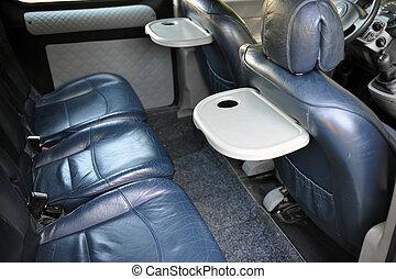 cuir, voiture, dos, appui-tête, sièges, actif