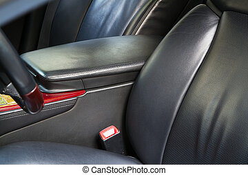 cuir, voiture, dos, sièges