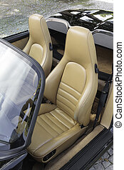 cuir, voiture, sports, sièges