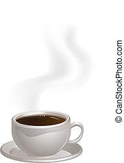 cuire café vapeur, soucoupe tasse