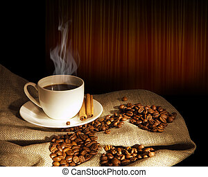 cuire café vapeur, tasse