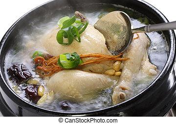 cuire vapeur, samgyetang