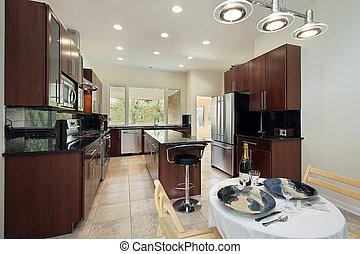 sombre lambris cuisine sombre bois maison luxe images de stock rechercher des photos. Black Bedroom Furniture Sets. Home Design Ideas