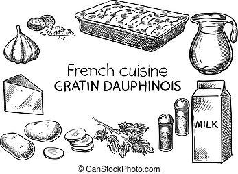 cuisine., フランス語