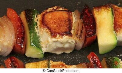 cuisine, 3, dégonfler kebabs