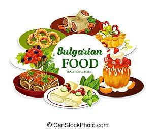 cuisine, bulgare, dessert, viande, nourriture, fruit