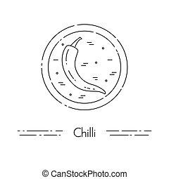 cuisine, chilli, nourriture, sain, végétarien, ligne mince, bannière