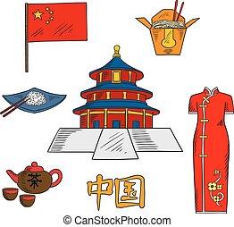 cuisine, croquis, porcelaine, culture, attractions
