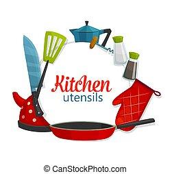 cuisine, cuisine, articles, ustensiles, cookware