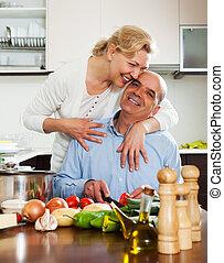 cuisine famille, ensemble, chez soi