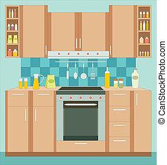 cuisine, furniture., interior.