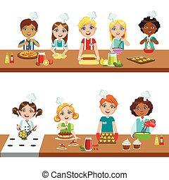 cuisine, gosses, classe
