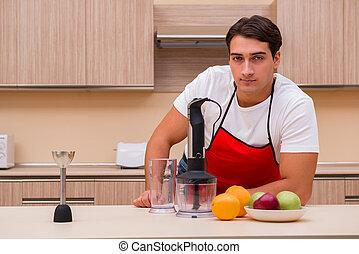 cuisine, homme, fonctionnement, beau