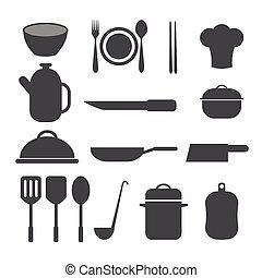 cuisine, icône