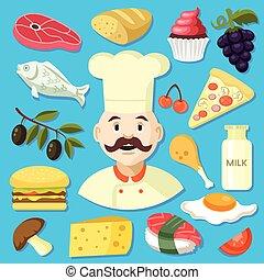 cuisine, illustration