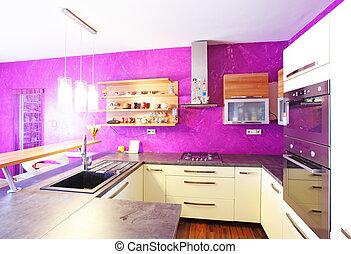 cuisine, -, intérieur