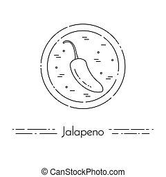 cuisine, jalapeno, nourriture, sain, végétarien, ligne mince, bannière