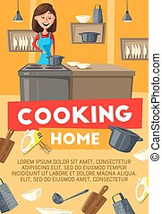 cuisine maison, femme foyer, cuisine