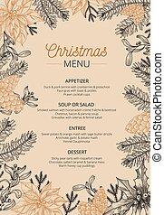 cuisine, menu, restaurant, gabarit