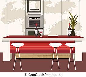 cuisine, moderne