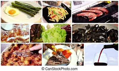 cuisine montage - a collage including international cuisine...