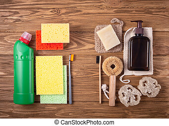 cuisine, naturel, produits, bain
