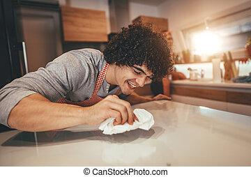 cuisine, nettoyage, après