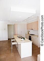 cuisine, nouveau, moderne, maison