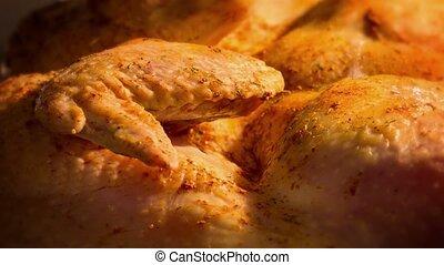 cuisine, poulet, grillé