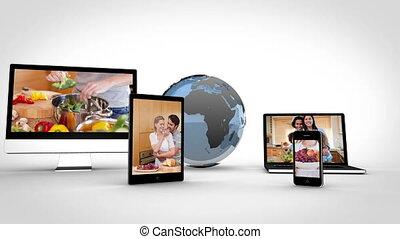 cuisine, sain, appareil, vidéos