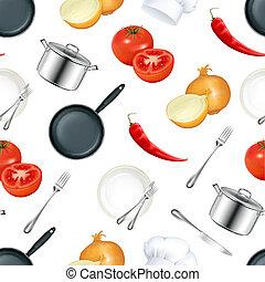 cuisine, seamless, fond