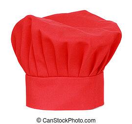 cuisinier, chef, chapeau